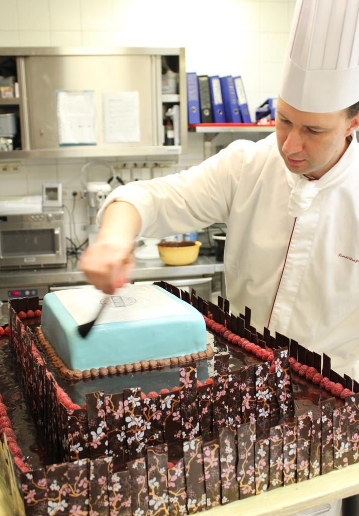 Our Pastry Chef Tomas works on a