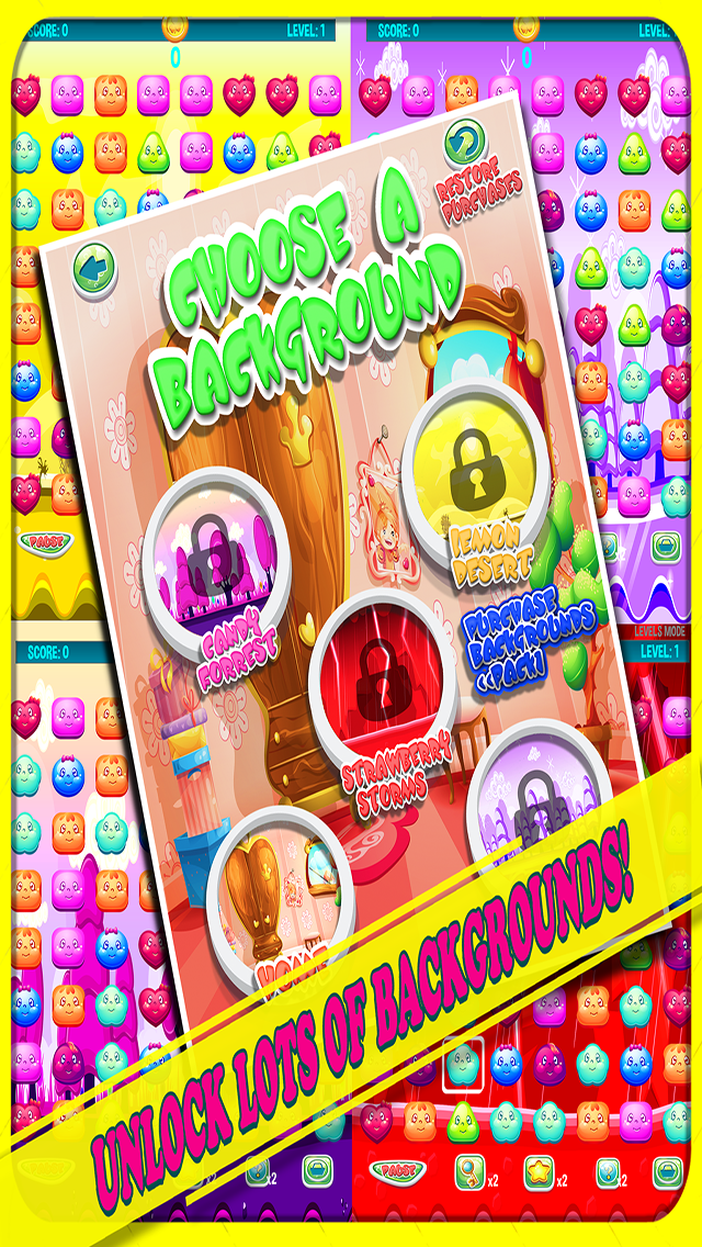 Get #CartoonCandy for #iPhone or #iPad today! #Fun #addictivegame  bit.ly/CartoonCandyMa… #indiedev #indiegame #sweet