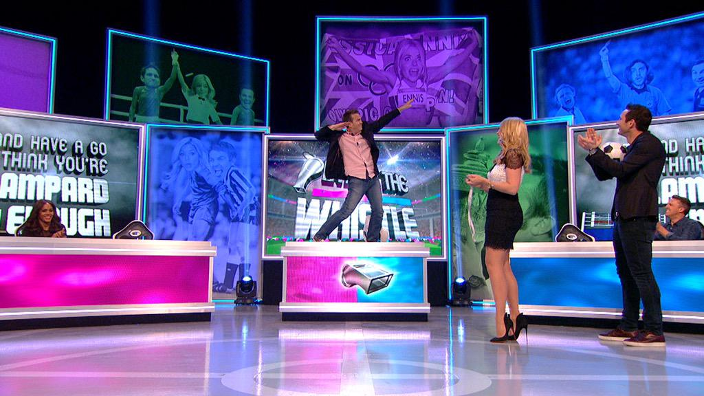 On tonight's Play to the Whistle @itv 9:15, do you think @BradleyWalsh beets Frank Lampard at keepy uppies???... http://t.co/be3X79VJ4b