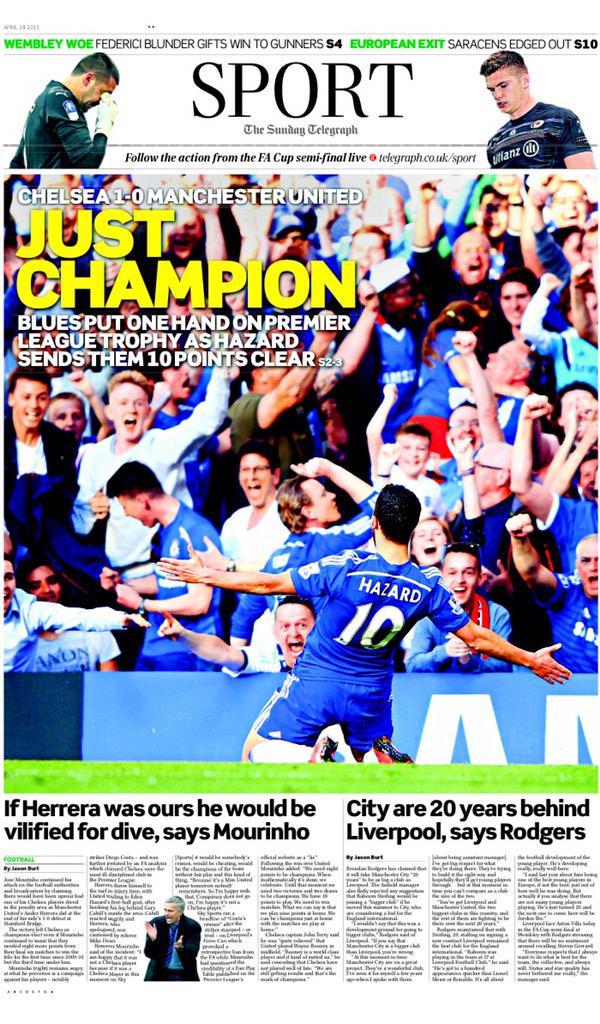 Premier League - Chelsea vs Manchester United - Page 2 CC5xW2pWgAAU7Ia