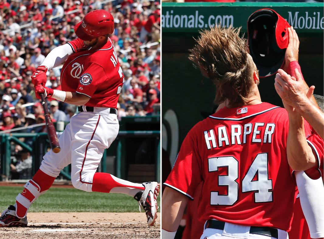 Bleacher Report On Twitter VIDEO Bryce Harper Blasts The Longest Home Run Of His Career Proceeds To Flip Hair Tco LWf0MAca2r