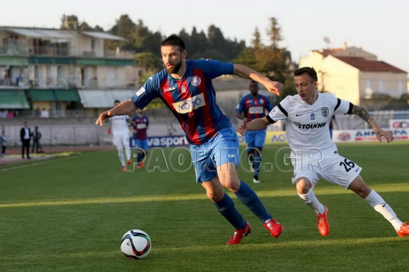 Dimitrovski during the PAOK game