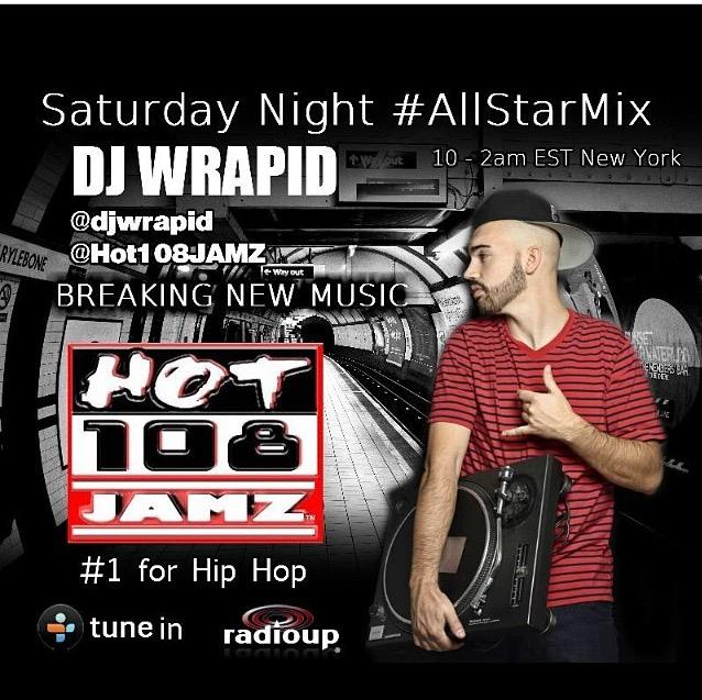 TONIGHT 10pm The All Star Mix with @DJWrapid http://t.co/DGME18nWy0