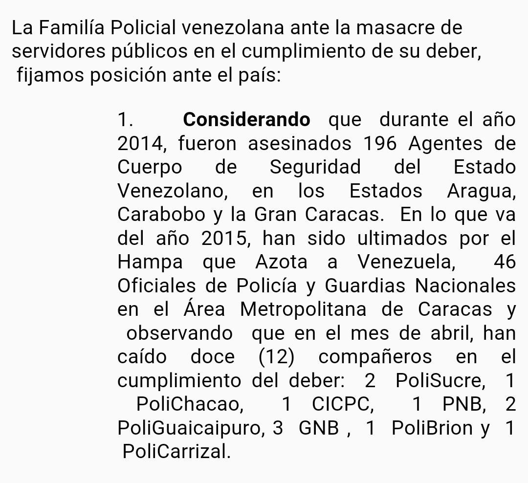 Crisis de inseguridad en Venezuela. (sálvese quien pueda) - Página 5 CC6hgpBWEAAHPZW