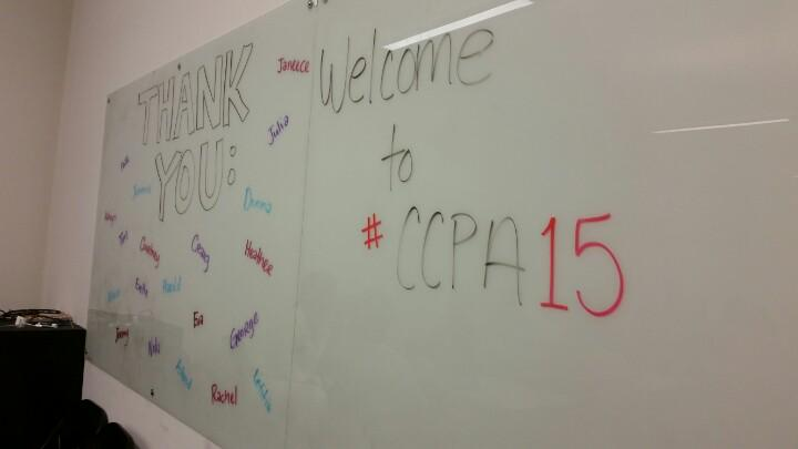 Many thanks to the @CCPA_Updates folks for putting on a great #ccpa15 institute today! http://t.co/vRn60y98ue