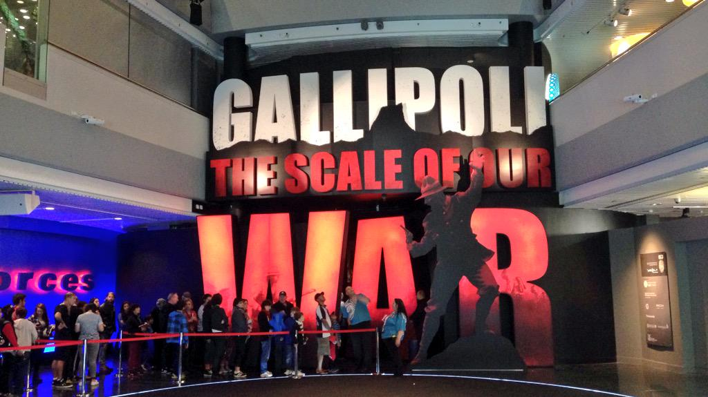 The entrance to 'Gallipoli: the scale of our war'