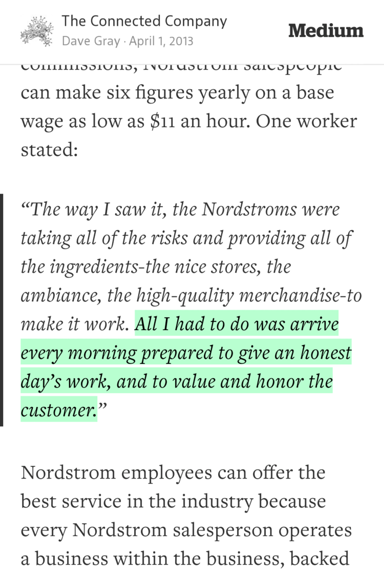 """""""All I had to do was arrive every morning prepared to give an honest day's work…"""" —@davegray https://t.co/jzZ8XtSpVX http://t.co/zuWymuwPt7"""