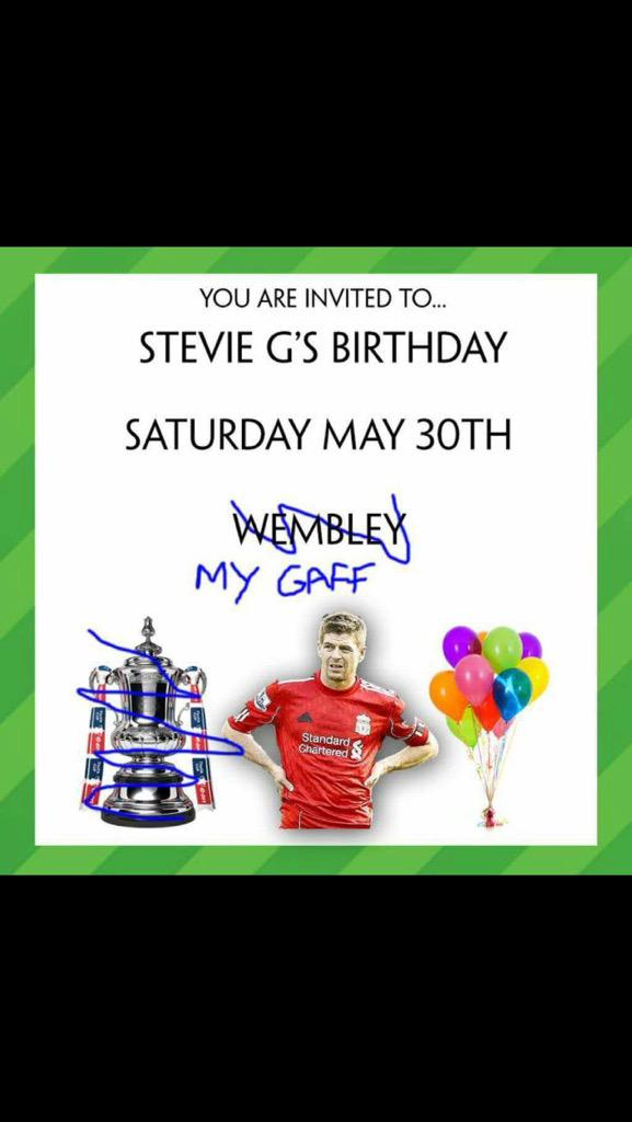 So I see it has started already...poor Stevie G http://t.co/maeJFjSqZ7