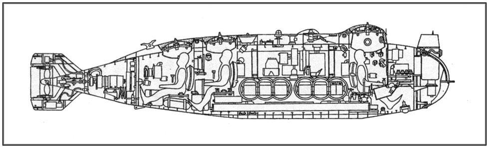 Rare midget russian submarine triton reply, attribute