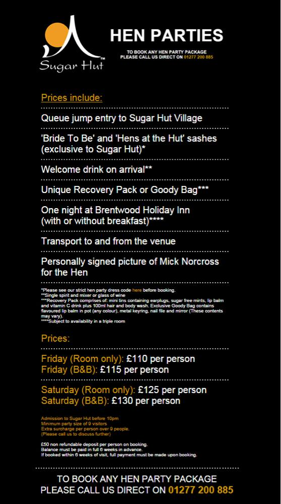 Are you arranging a hen party for 2015?? Check out our hen night packages http://t.co/bQORI3LySI