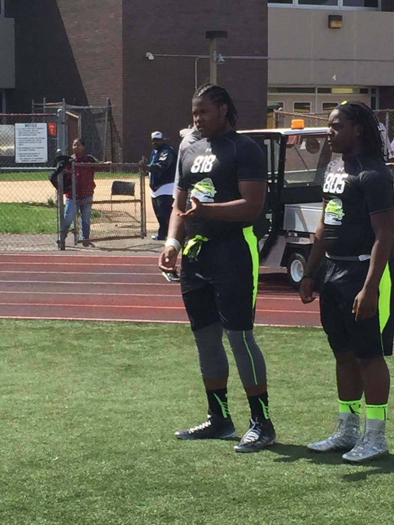57fe2e8d5 Out in new jersey this morning for the  rivalscamp. 5stars rashan gary and kareem  walker headline a deep group