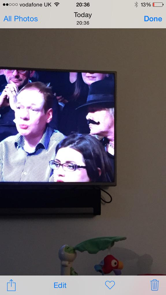 RT @impaulharper: Is that a fake tash?!  #ScotDebates http://t.co/XJIngZibck