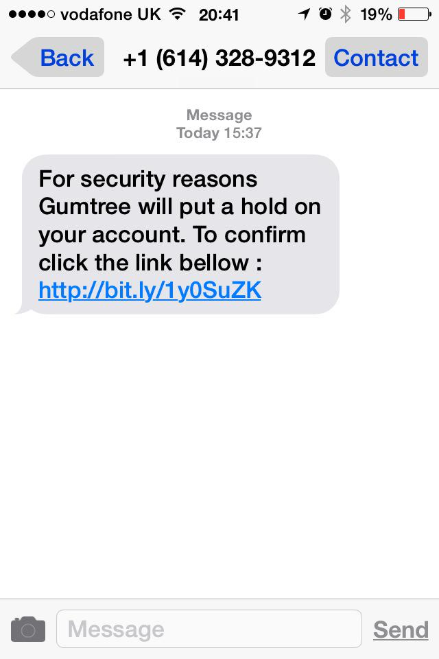 Gumtree Sent Messages