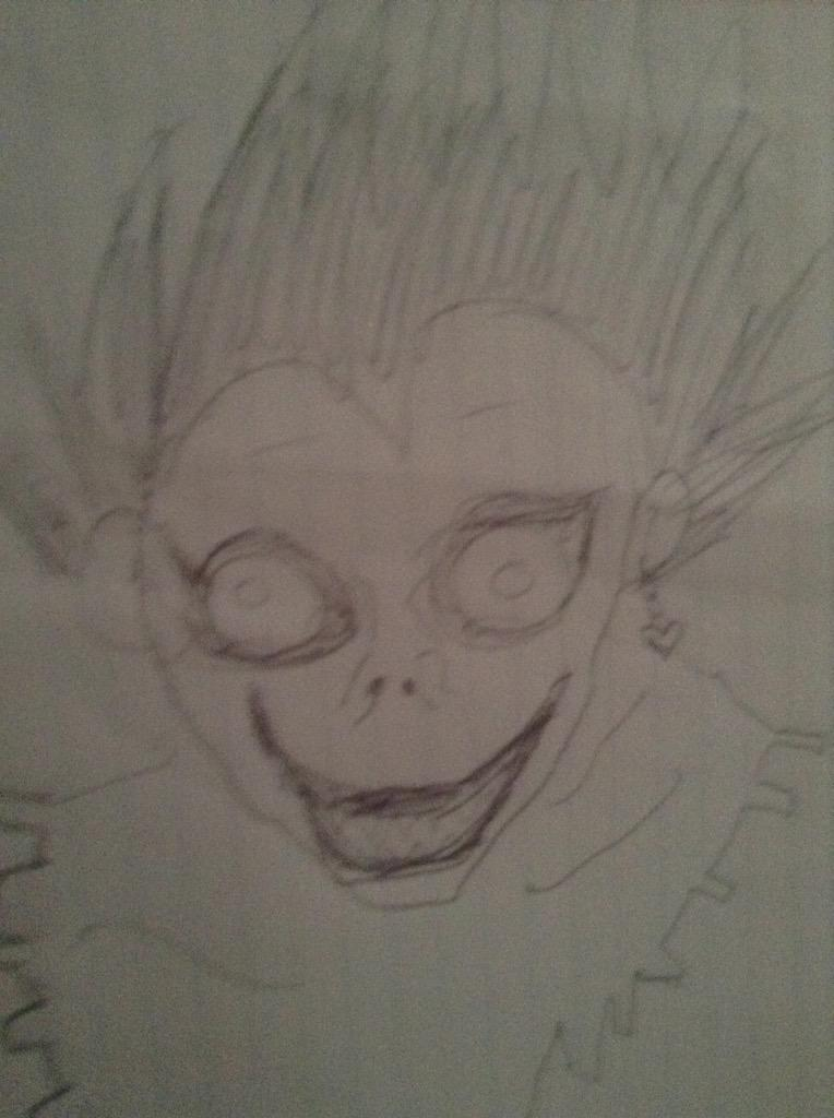 Bad Anime Drawings On Twitter Ryuk From Death Note Mai Top Tier Waifu Http T Co Atbwn1xzwk