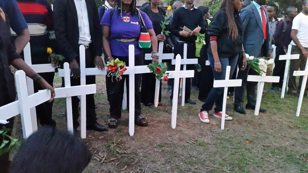 147 crosses representing 147 young souls lost... #147isnotjustanumber http://t.co/VqzYSVxBZk