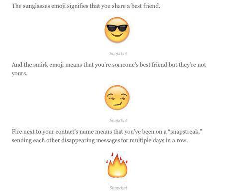 sunglass emoji snapchat meaning