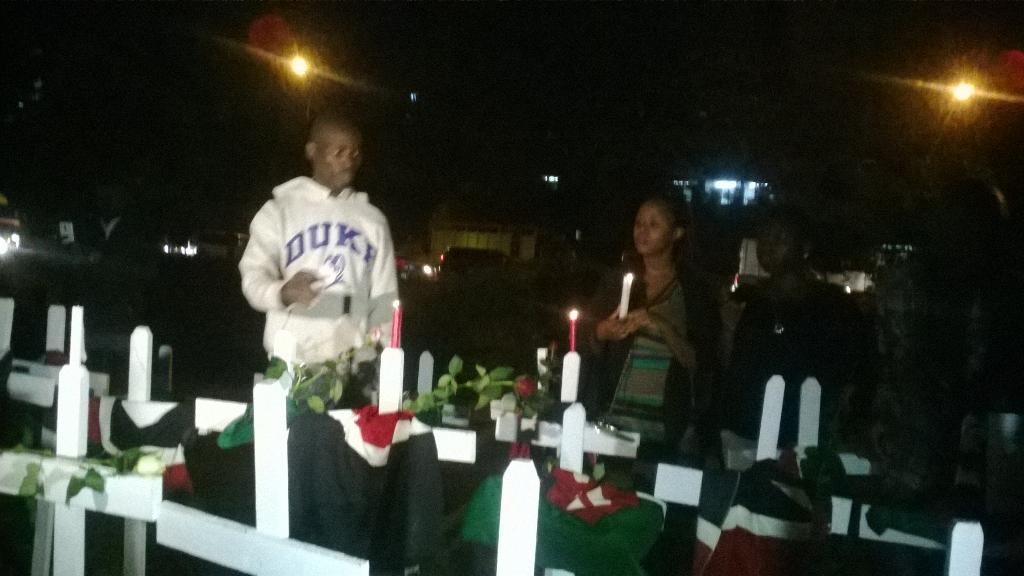 147 crosses, 147 candles, 147 flags, honoring Garissa University attack victims. #SABCNews #147notjustanumber http://t.co/YteLnsUanb