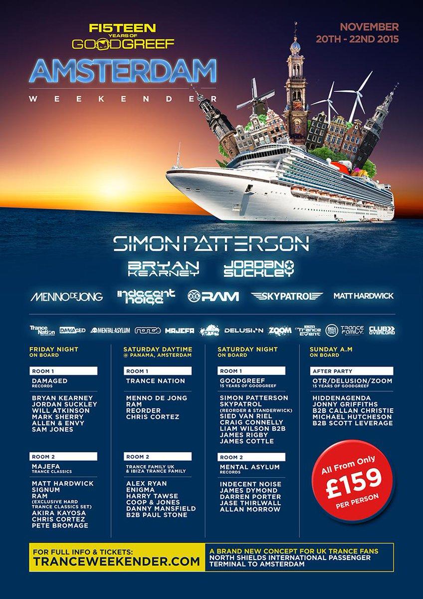 All Aboard.. Amsterdam Trance Cruise Weekender @Sipatterson @bryankearney @jordansuckley @mennodejong @IndecentNoise http://t.co/XGZBPJRp3t