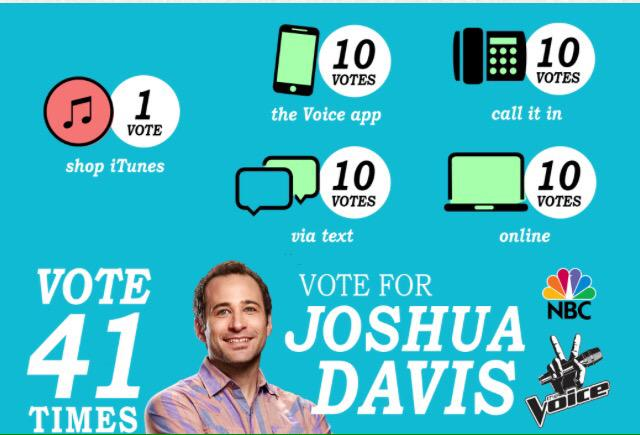 Support @joshuadavis77 on @NBCTheVoice #playoffs tonight! #DavisNation #TeamAdam https://t.co/R80n4gCRnA http://t.co/FnlqZvVAwJ