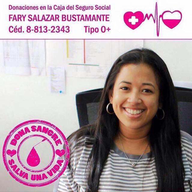 Cada minuto es más importante su donación, los esperamos en la CSS a lado de la UP a nombre de Fary Salazar 0+. http://t.co/YMR7dE1QLs