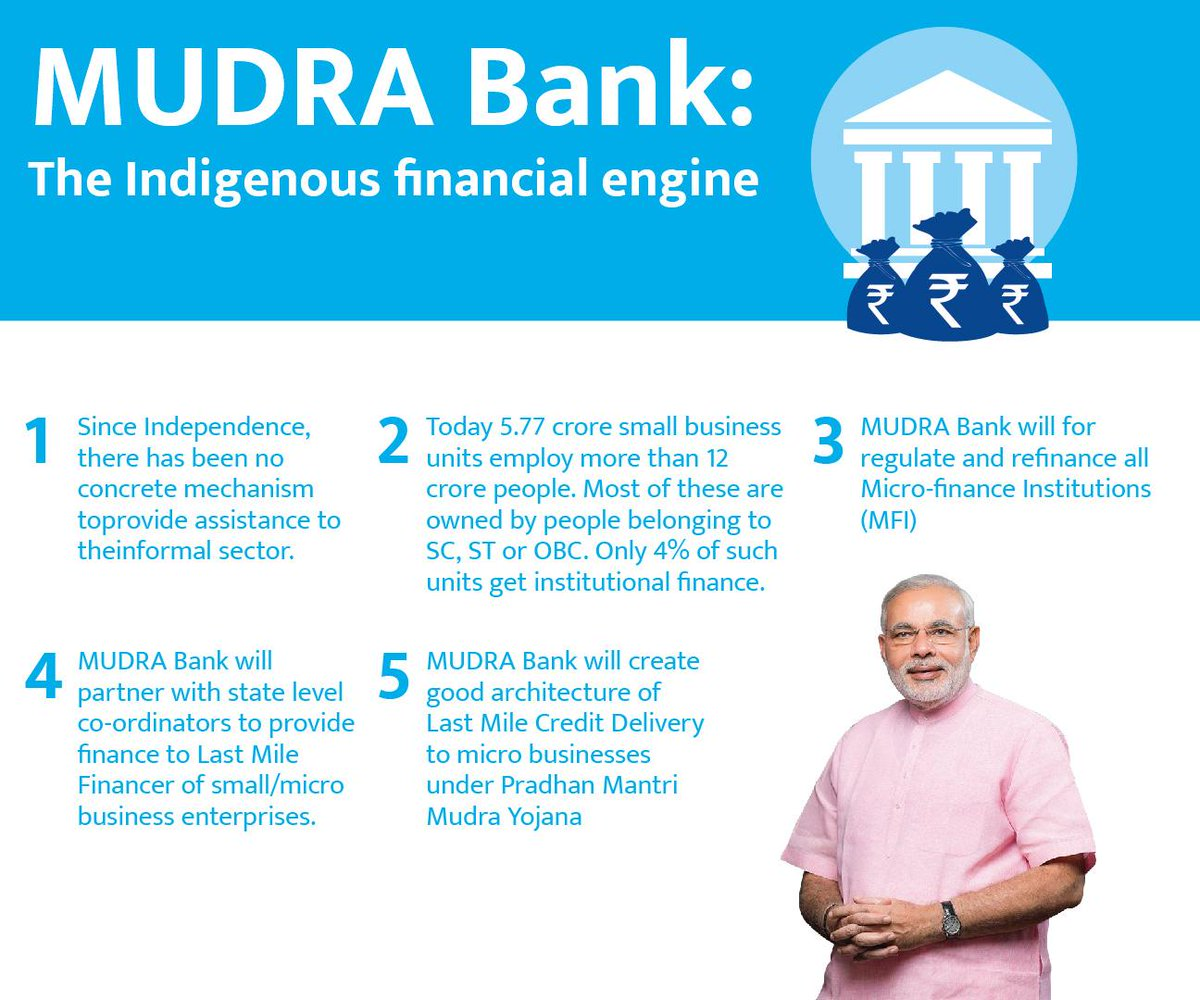 MUDRA Bank for Bharat Uninc. Kudos to NaMo.  4c771cddecc