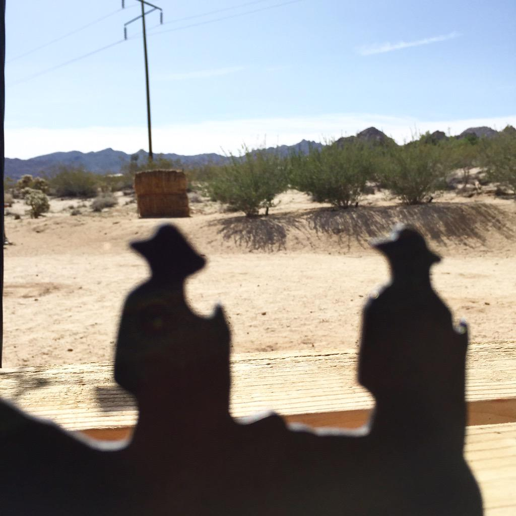 Played Cowboys for a day out in the desert