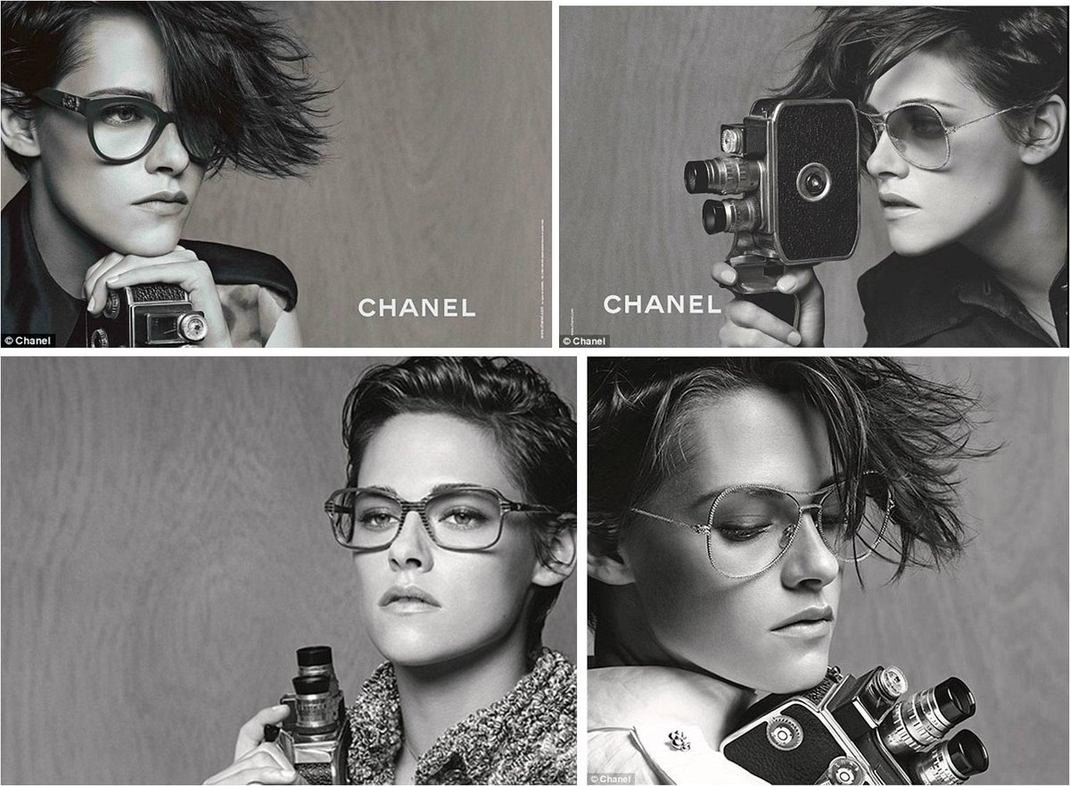 Absolutely sublime campaign by Kristen Stewart for Chanel Eyewear, shot by Kaiser Karl himself. Starring her hair. http://t.co/AiX7EA9klf