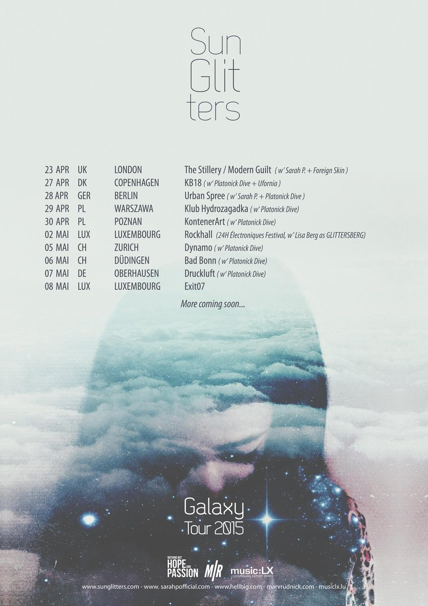 Sun Glitters very soon on Tour!  Get info here: http://t.co/rtJLzuCooD http://t.co/s4guk8ymTr