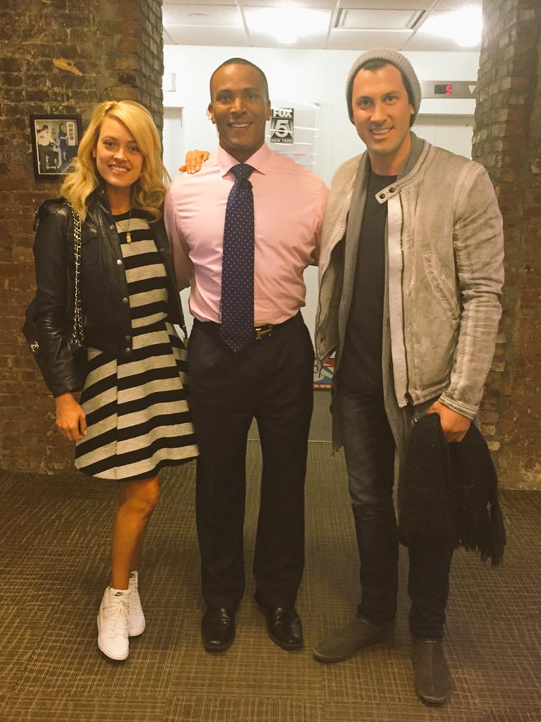 That's Mikey in the middle of @MaksimC and @PetaMurgatroyd  Maks' new show @SWAYShow is at Hammerstein Ballroom soon! http://t.co/p1uRMgdgpC