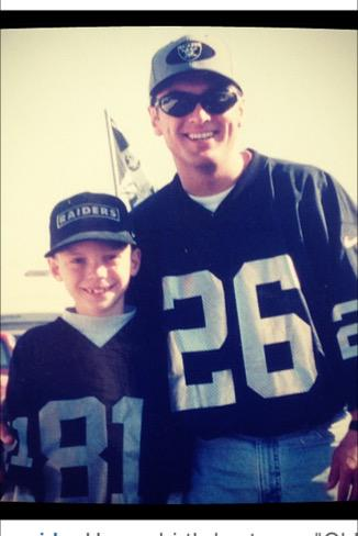 Happy 26th birthday to my oldest child @alexanderdeleon !! I'm wearing your number! @OdotCoCOLISEUM @RAIDERS http://t.co/pCg4ypcQTB