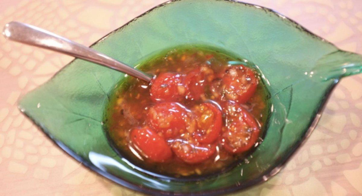 セミドライトマトのスイートチリソースレシピ→