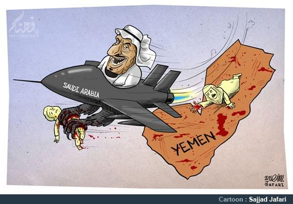 Image result for SAUDI KING WAR IN YEMEN CARTOON
