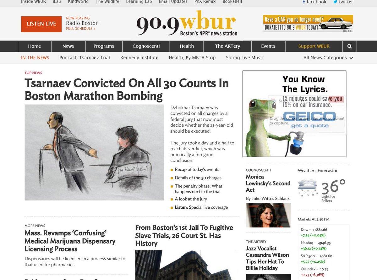 Here's what @WBUR looks like covering #Tsarnaev http://t.co/myEpYEXQ0I