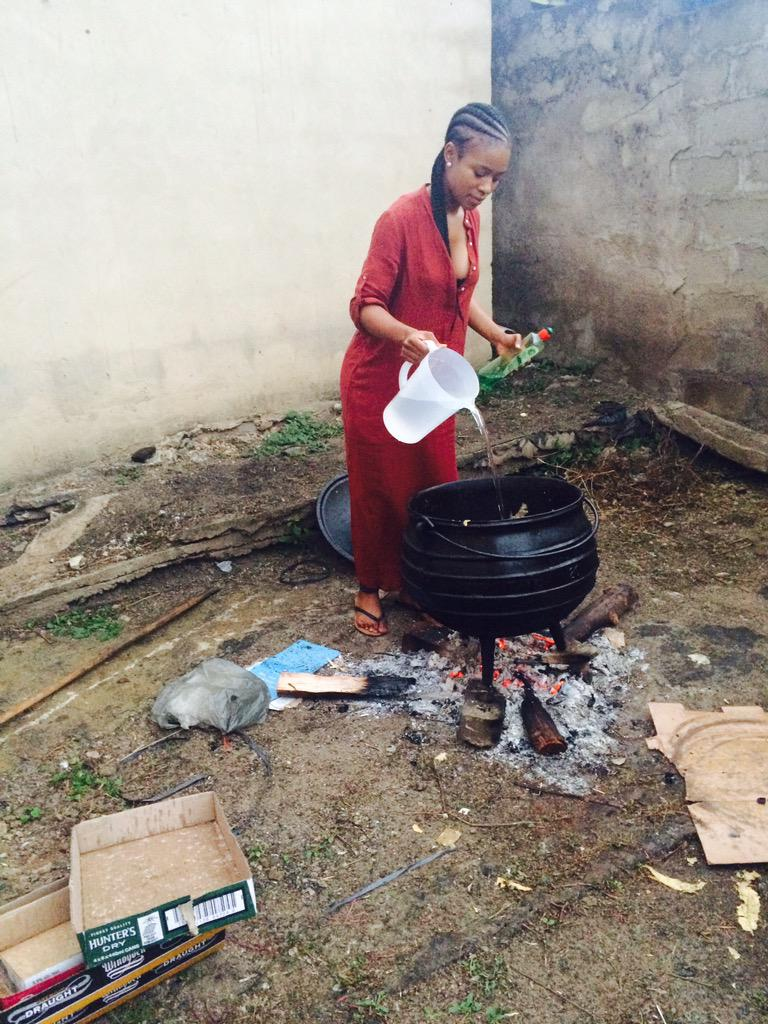 """Nomzamo Mbatha on Twitter: """"Got domesticated this weekend.. Back in my ..."""