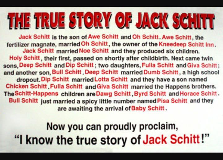 Story of jack schitt