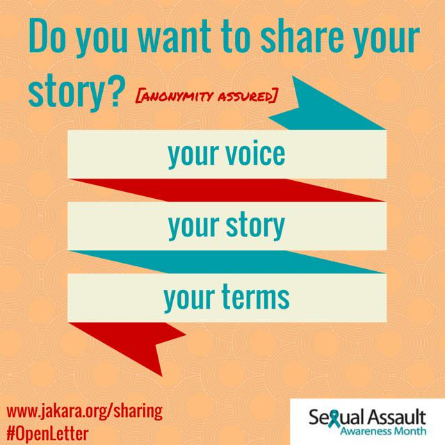 Pls RT! April is Sexual Assault Awareness Month #SAAM - help us open the convo http://t.co/adRjGQGtwn http://t.co/OJqgOyYJyV