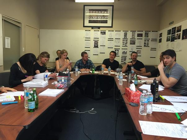 Final Arrow table read of the season... http://t.co/DFfCw8qnIg