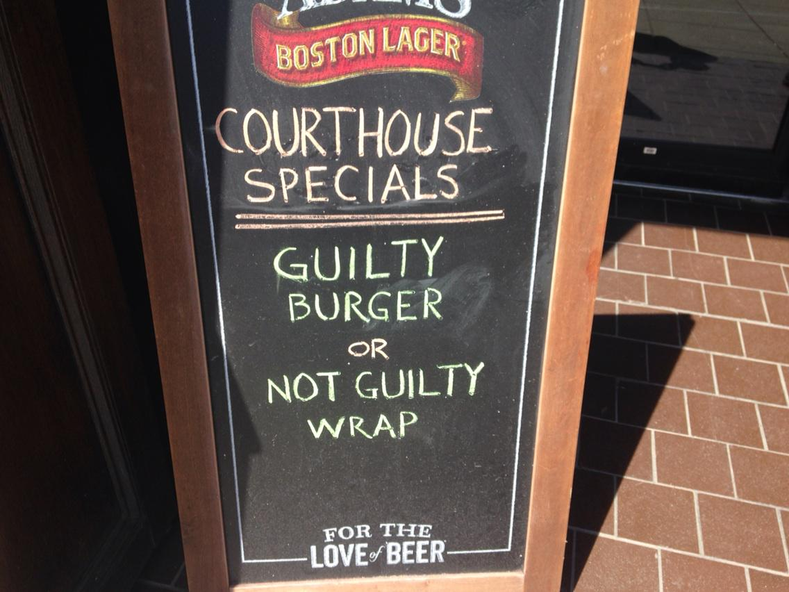 What's for lunch at the restaurant across from where #AaronHernandez deliberations taking place now http://t.co/Ef2cEcM4Ua