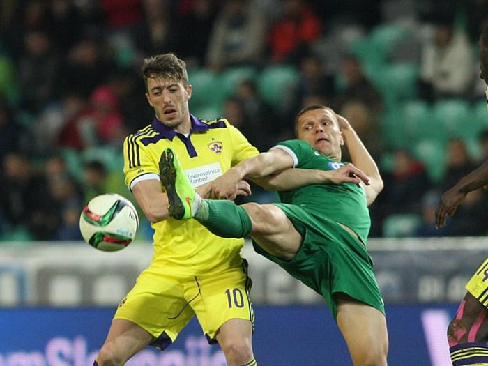 Agim Ibraimi during the Slovenian derby