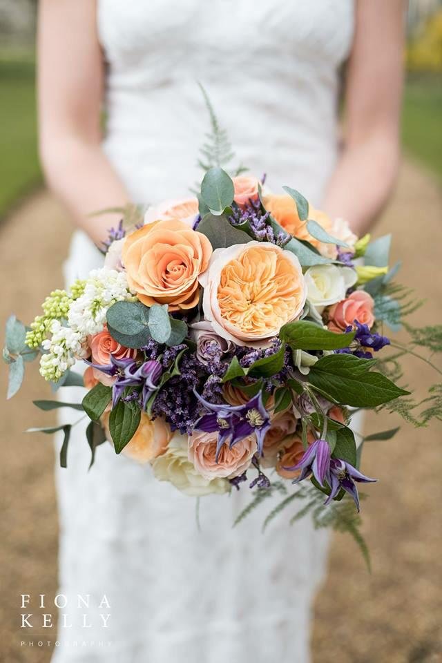 Beautiful #flowers a bouquet of purple, orange and green. Stunning for a spring wedding  #weddinghour http://t.co/VELXUa2uwy