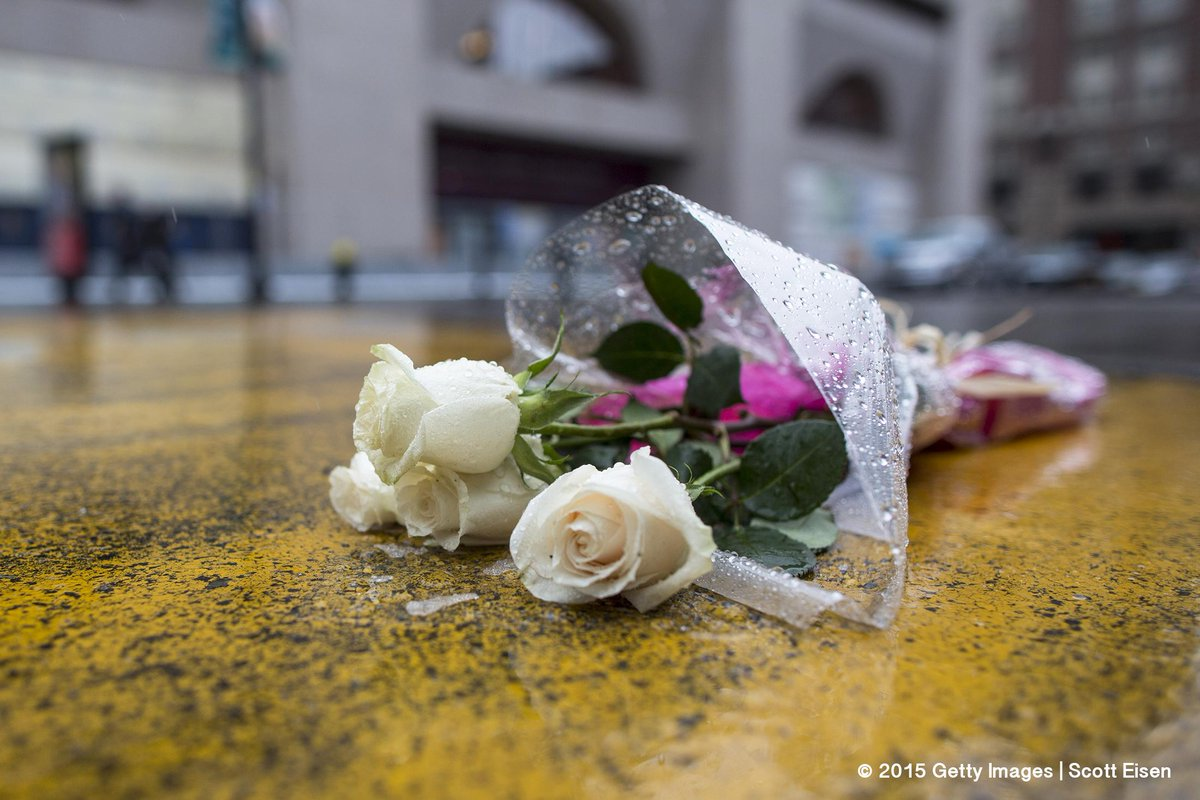 PHOTO: Flowers placed at the finish line of the #Boston #Marathon following the verdict #GettyImages http://t.co/nRgYaKNgqO