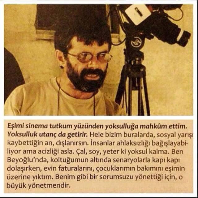 Ahmet Uluçay... Çok büyük yönetmendi. Bir o kadar da edebi bir kimliğe sahipti. http://t.co/r3EXPZ3rQt