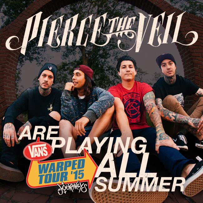 Pierce The Veil @piercetheveil on board for ALL 2015 #VansWarpedTour dates - http://t.co/PC316fxraG http://t.co/VIF91FbYlo