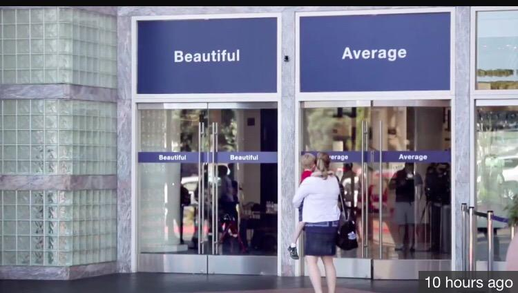 Dove's new ad campaign has women choose which door to use. How about a third door that says: I Just Want Equal Pay http://t.co/X0XAMV2doh