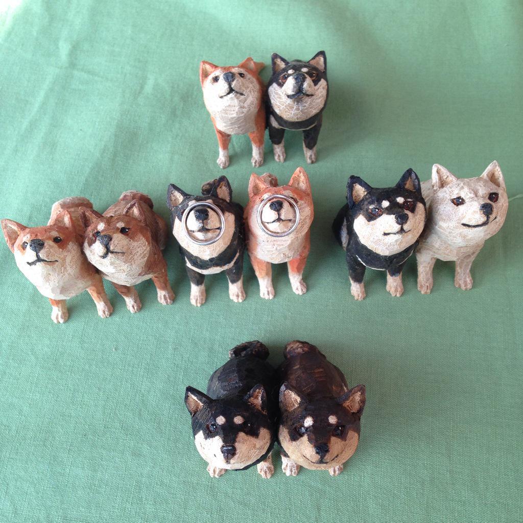柴犬リングピローを少しだけ作りました pic.twitter.com/mDJR0czLik