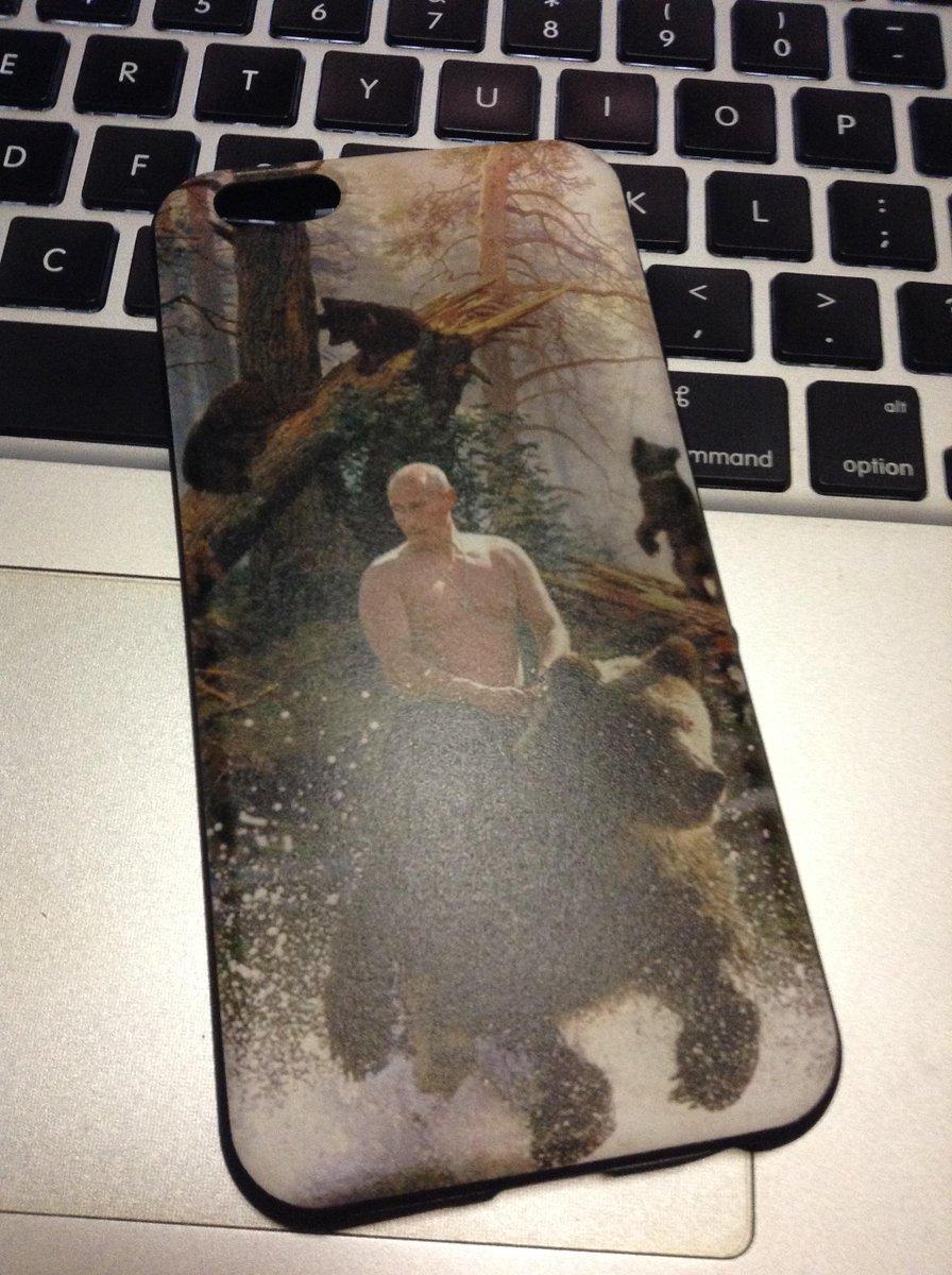 iPhone持ってないけどプーチンケース来たー!!ファンシー( ・(ェ)・ ) http://t.co/wod3FYARm1