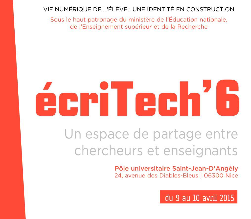 Thumbnail for Colloque Ecritech 2015