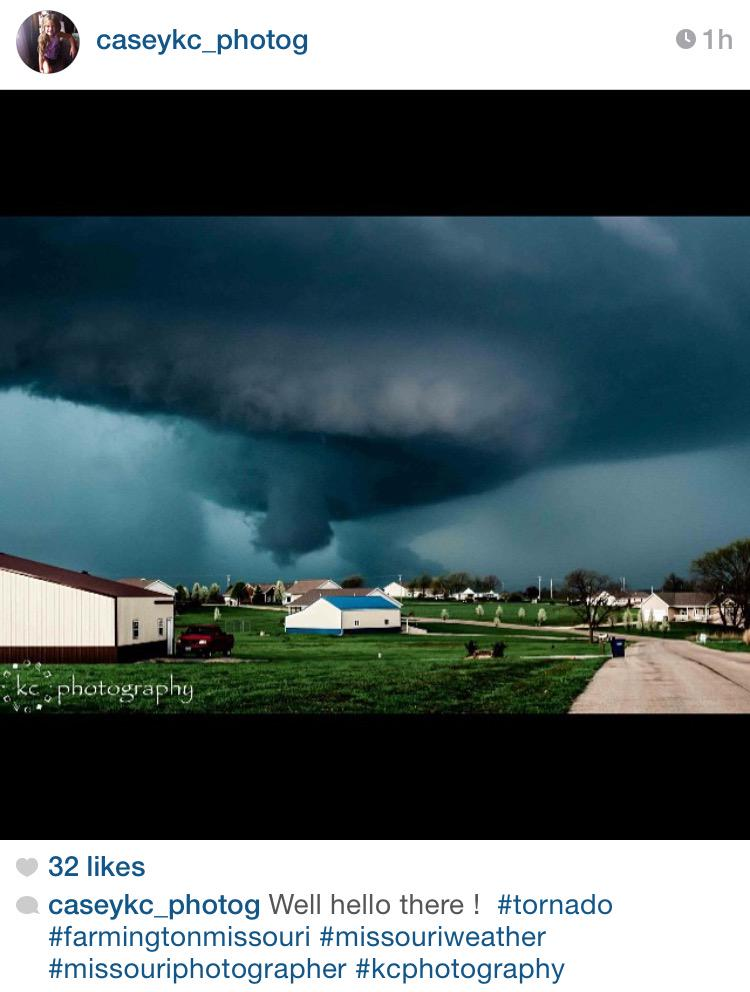 PHOTO: Great shot of Farmington, MO storm - http://t.co/pqbIWRWgyU caseykc_photog on IG #MOwx #severe cc: @JimCantore http://t.co/fvAHyVR5SO