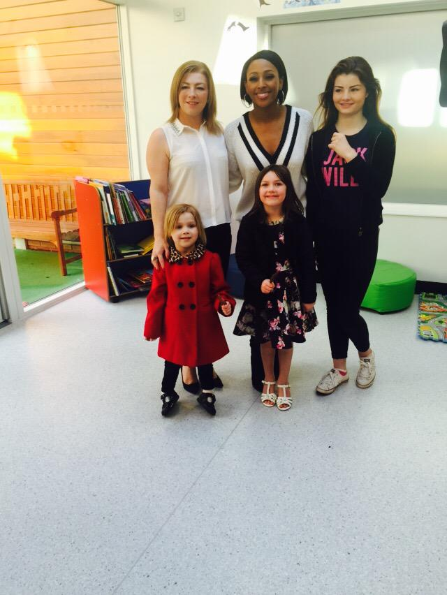 So lovely meeting Megan, Evie, Daisy and Dawn the other day! @WellChild #YoungHeroAward @GMB http://t.co/EEWeuT8Zeg