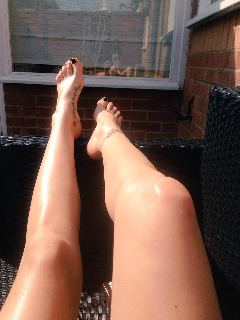 Loving this sun...Sun bathing topless in the garden trying to hide from the neighbours lol... Have a great weekend